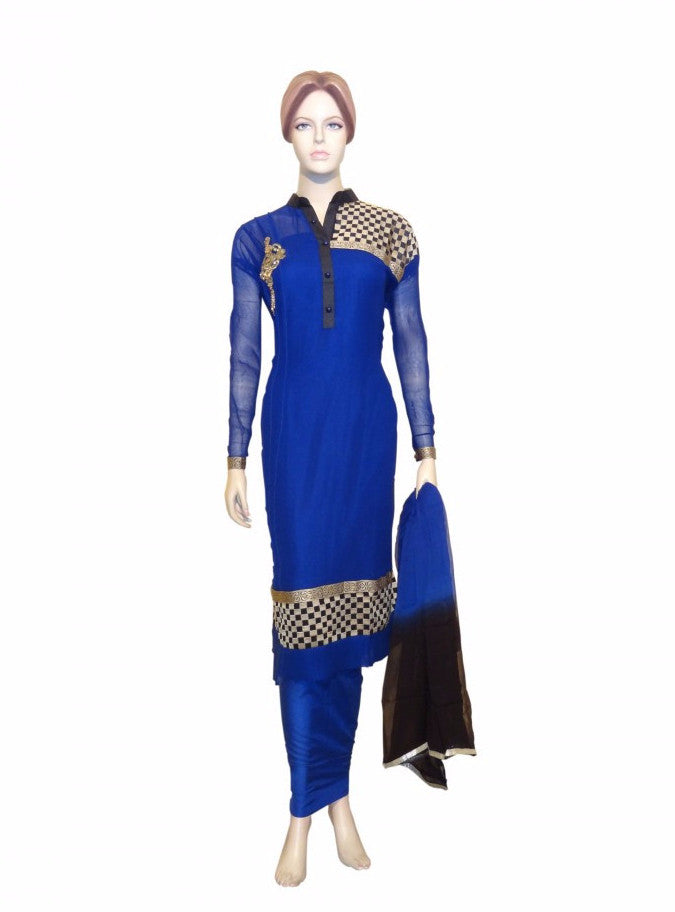 Maple 1030  Blue Color Georgette Designer Suit
