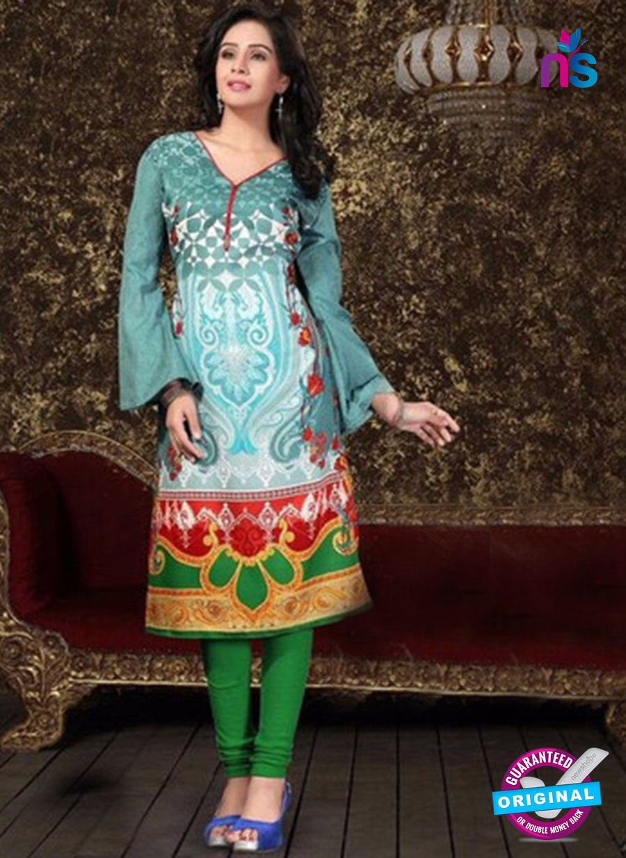Maria 1003  Sea Green Color Pashmina Designer Kurti