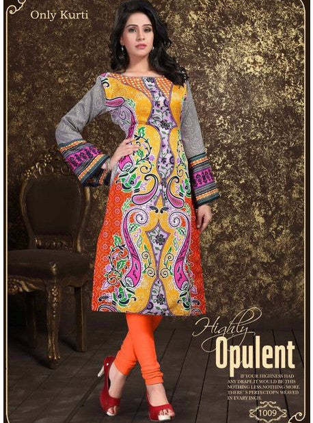 Maria 1009  Orange Color Pashmina Designer Suit