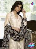 NS11081 Beige Party Wear Silk Chudidar Suit