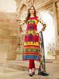 Mayur 01 Yellow and Red Color Cotton Designer Suit