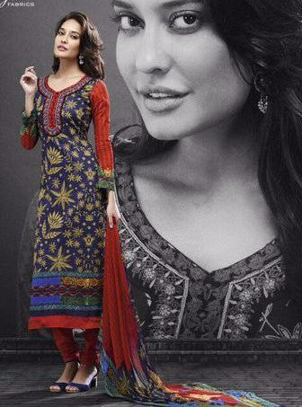 Mayur 544 Blue Color Pakistani Style Cotton Designer Suit