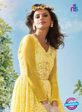 NS 11967 Yellow Designer Anarkali Suit