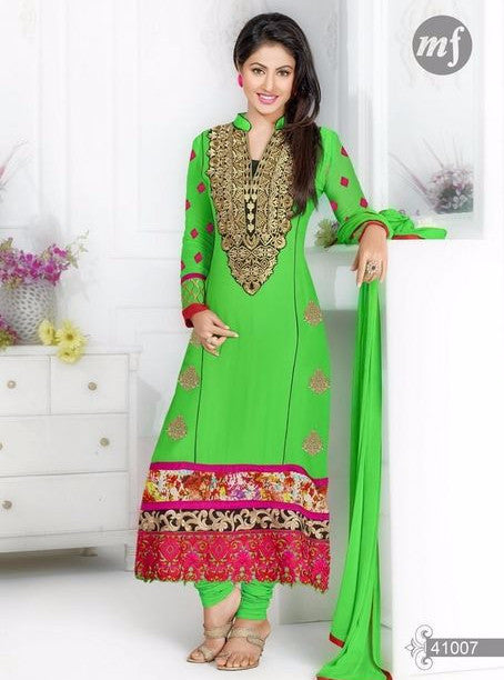 MF 41007 Green Color Georgette Designer Suit