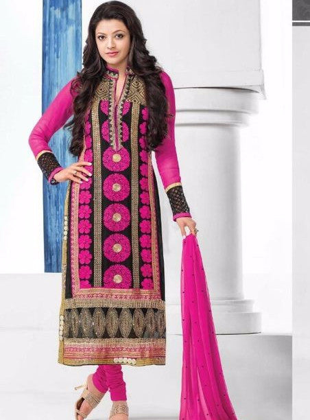 MF 46015 Pink Color Georgette Long Designer Suit