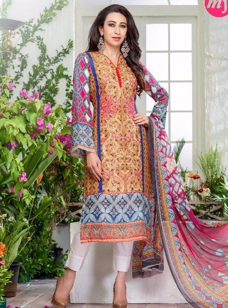 Nirali 0009  Multi Color Georgette Designer Suit