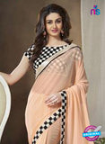 NS11114 Peach Georgette Designer Saree