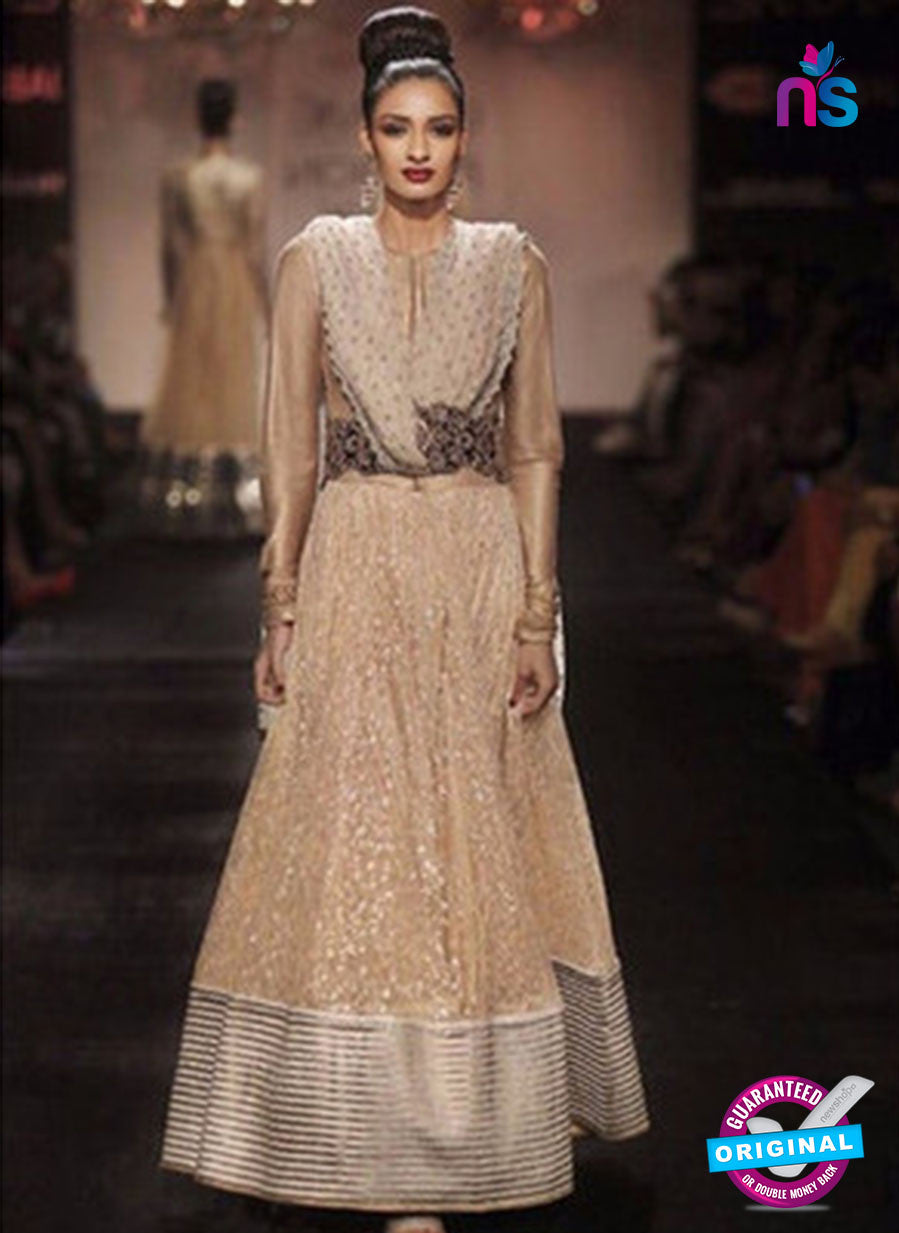 Nakkashi 11016 Beige Color Net/Georgette Long Designer Suit