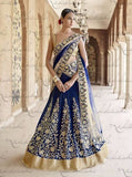 Nakkashi 5048 Blue Color textured Gota Designer Lehnga Choli
