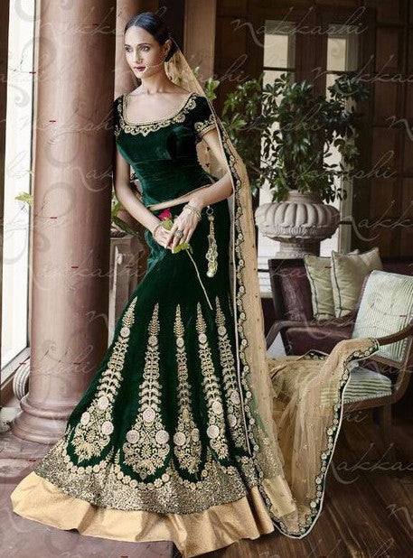 Nakkashi 5050 Green Color Designer Lehnga Choli