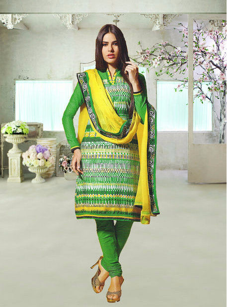 Om Tex 0003 Green Color Pashmina Designer Suit
