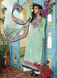 Om Tex 1031B Green Color Cotton Long Designer Suit