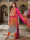 Omtex 1080 Orange Color Cotton Designer Suit