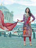 Omtex 19008B Multicolor Glazed Cotton Designer Suit