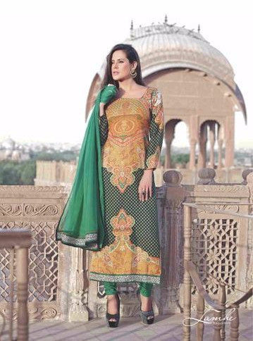 Omtex 22004A Green Color Pashmina Designer Suit