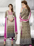 Omtex 508B Beige & Pink Color Cotton Long Designer Suit