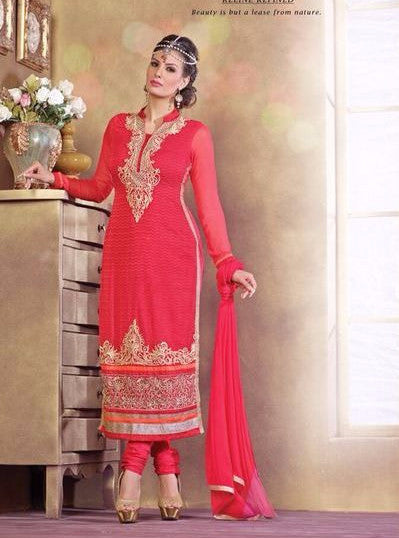 Pari 2810  Pink Color Georgette Long Designer Suit