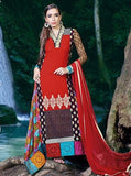 Pari 2907B  Red Color Georgett Designer Suit