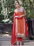 Pari 2908B  Red Color Georgett Designer Suit