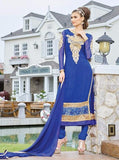 Pari 2909A  Blue Color Georgett Designer Suit