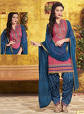 NS11309 Pink Color Chanderi Silk Patiala Designer Suit