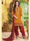 NS11312 Yellow Color Chanderi Silk Patiala Designer Suit