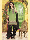 NS11313 Green Color Chanderi Silk Patiala Designer Suit