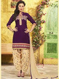 NS11315  Purple Color Chanderi Silk Patiala Designer Suit