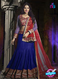 SC 12346 Blue and Maroon Valvet and Georgette Party Wear Lehenga Choli
