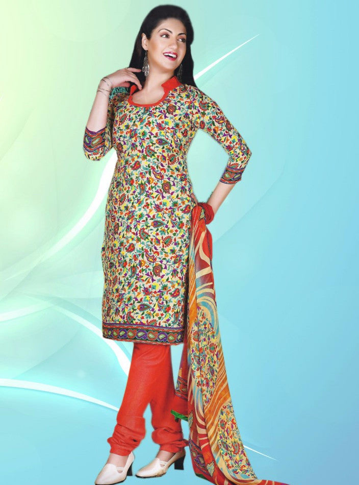 NS11362  Red Color Pashmina Designer Suit