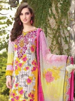 Rakhi 03 Multicolor Cotton Designer Suit
