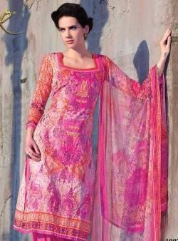 Rakhi 04 Pink Color Cotton Designer Suit