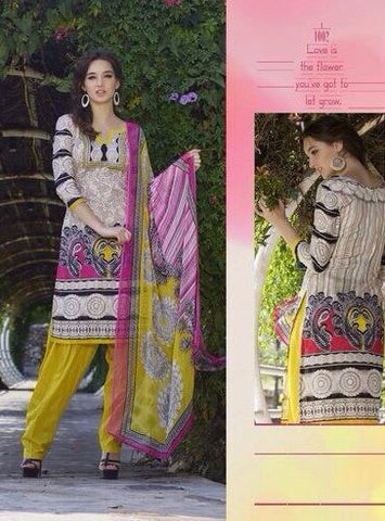 Rakhi 1101A Beige Color Lawn Jacquard Cotton Long Designer Suit
