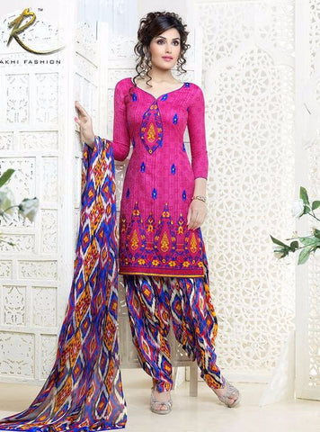 Rakhi 2104 B Pink Color Cotton Designer Suit