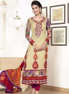 Rakhi 2216 Yellow Color Georgette Long Designer Suit