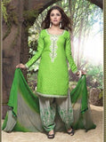 Rakhi 2709 Green Color Punjabi Style Cotton Designer Suit