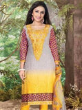 Rakhi 3513 Yellow Color Cotton Designer Suit