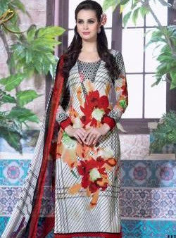 Rakhi 4113 Red and White Color Designer Suit