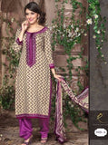 Rakhi 1083B Grey & Purple Color Glazed cotton Designer Suit