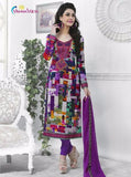 Rakhi 7316 Purple Color Cotton Designer Suit