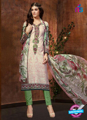 SC 13425 Pink and Green Embroidered Lawn Cotton Straight Suit
