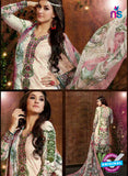 SC 13425 Pink and Green Embroidered Lawn Cotton Straight Suit Online