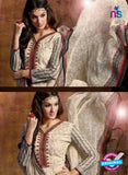 SC 13434 Beige and Maroon Embroidered Lawn Cotton Straight Suit