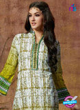 SC 13427 Green Embroidered Lawn Cotton Straight Suit Online