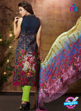 SC 13429 Blue and Green Embroidered Lawn Cotton Straight Suit