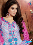 SC 13432 Blue and Multicolor Embroidered Lawn Cotton Straight Suit online