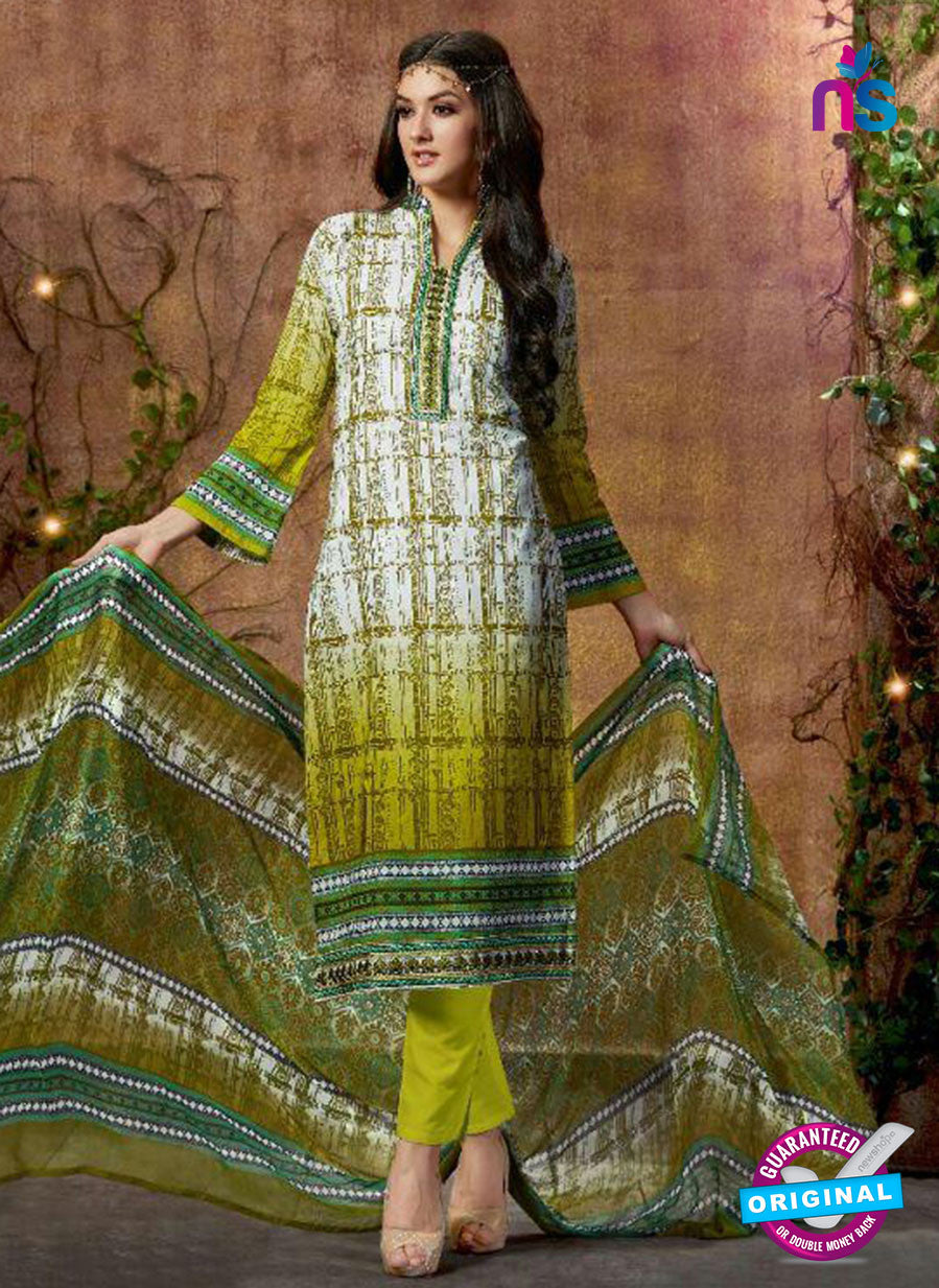 SC 13427 Green Embroidered Lawn Cotton Straight Suit