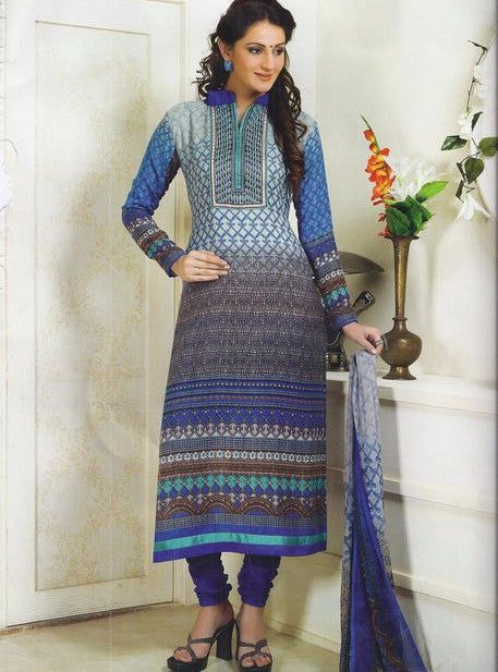 NS11518  Blue Color Pashmina Designer Suit