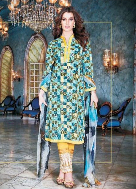 Sahiba01 Blue Color Pakistani Style Cotton Designer Suit