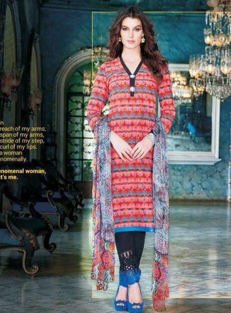 Sahiba04 Peach Color Pakistani Style Cotton Designer Suit